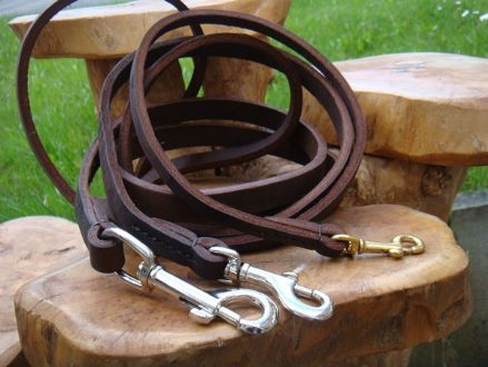 Hand-Made Clayton  English Leather Dog Lead